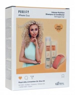 Purify-Reale набор ( шампунь + кондиционер + щетка для волос)